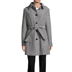 Liz Claiborne Midweight Belted Peacoat