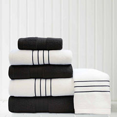 Pacific Coast Textiles Contrast 6-pc. Quick Dry Bath Towel Set