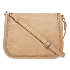 Louis Cardy Whipstitch Large Messenger Crossbody Bag