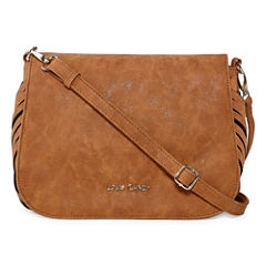 Louis Cardy Woven Gusset Large Messenger Crossbody Bag