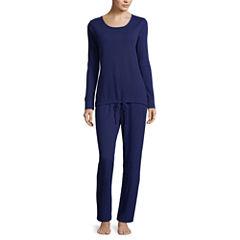 Liz Claiborne 2-pc.Thermal Pant Pajama Set