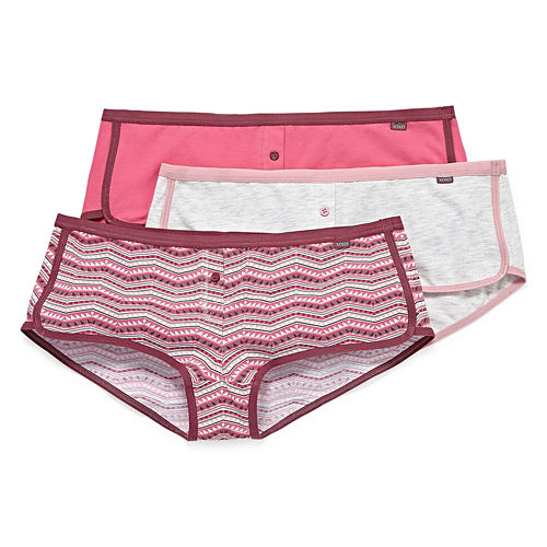 Xoxo 3-pc. Knit Boyshort Panty