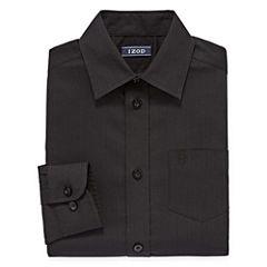 IZOD Long Sleeve Yarn Dyed Woven Dress Shirt - 8-20 Boys