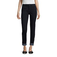 Libby Edelman Roll Cuff Girlfriend Jeans