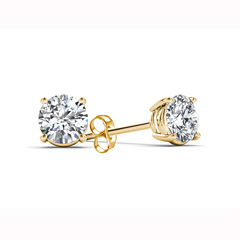 Classic 1/4 CT. T.W. Round White Diamond 14K Gold Stud Earrings