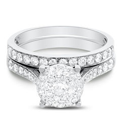 Brilliant Dream™  1 CT. T.W. Diamond Bridal Ring Set