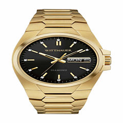 Wittnauer Mens Gold Tone Bracelet Watch-Wn3059