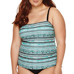 Arizona Mod Dream Bandeaukini Swim Top - Juniors Plus
