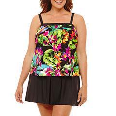 Azul Floral Swim Dress Plus