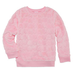 Okie Dokie Long Sleeve Hearts Sweatshirt - Preschool Girls