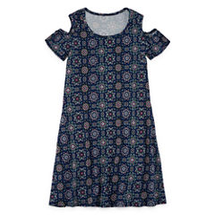Insta Girl Sleeveless Skater Dress - Big Kid Girls