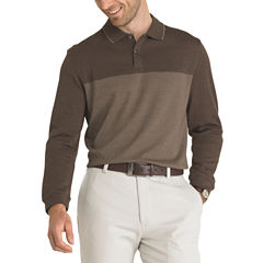 Van Heusen Long Sleeve Color Block Flex Polo