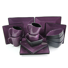 Elama Mulberry Loft 16-pc. Modern Premium Stoneware Dinnerware Set - Service for 4