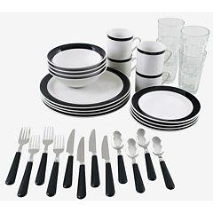 Gibson Essex 32-pc. Combo Dinnerware Set- Black