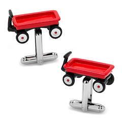 Red Wagon Cuff Link