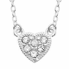 itsy bitsy™ Crystal Sterling Silver Heart Pendant Necklace