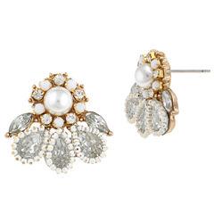 Decree Clear Stud Earrings