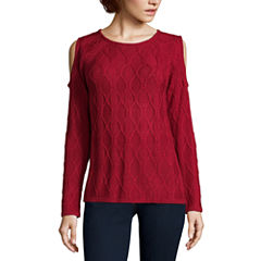 St. John's Bay Long Sleeve Round Neck Pullover Sweater