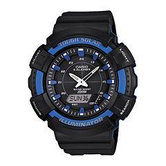 Casio® Mens Blue Bezel Black Strap Solar Sport Watch ADS800WH-2A2