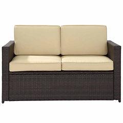 Crosley Palm Harbor Wicker Patio Sofa