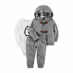 Carter's 3-pc. Checked Pant Set Baby Boys