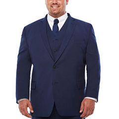 J.Ferrar Dark Blue Texture Jacket-Big and Tall