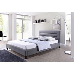 Baxton Studio Hillary Upholstered Platform Bed