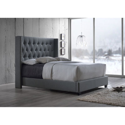 baxton studio katherine wingback upholstered bed