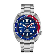 Seiko Prospex Dive Blue Dial Mens Silver Tone Bracelet Watch-Srpa21
