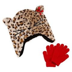 Toby 2-pc. Leopard Cold Weather Set-Preschool Girls