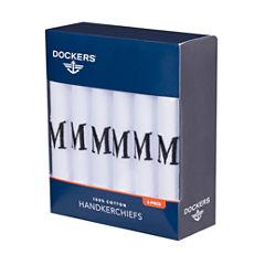 Dockers 100% Cotton 6 Pack Handkerchief Set