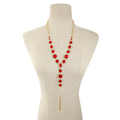 Monet Jewelry Womens Red Pendant Necklace