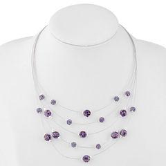 Liz Claiborne Womens Purple Illusion Necklace
