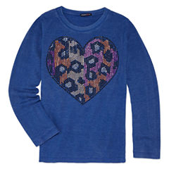 Limited Too Graphic Long Sleeve T-Shirt- Girls' 7-16