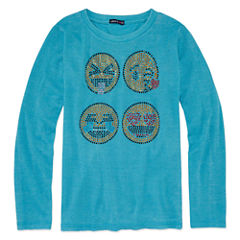 Limited Too Emoji Graphic Long Sleeve T-Shirt- Girls' 7-16