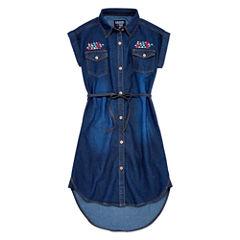 Limited Too Short Sleeve Chambray Shirt Dress - Girls' 7-16