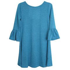 City Streets 3/4 Sleeve Bell Sleeve Skater Dress - Big Kid Girls Plus