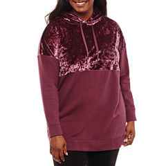 Flirtitude Oversize Velvet Hoodie- Juniors Plus