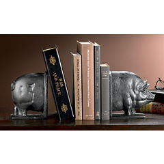 St. Croix Trading Smiling Swine Cast Iron Bookends