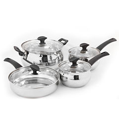 Oster Not Applicable 8-pc. Stainless Steel Dishwasher Safe Cookware Set