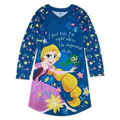 Disney Long Sleeve Tangled Nightshirt-Big Kid Girls