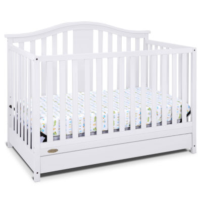 graco solano 41 convertible crib with drawer - White Baby Crib