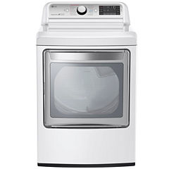LG ENERGY STAR® 7.3 Cu.Ft. Ultra-Large Electric TurboSteam™ Dryer with SteamSanitary™