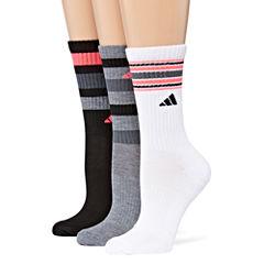 adidas 3 Pair Crew Socks - Womens