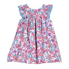 Marmellata Elbow Sleeve Pattern A-Line Dress - Baby Girls