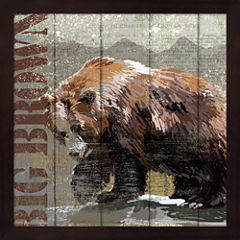 Open Season Bear Framed Wall Art