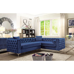 Chic Home Mozart Velvet Sectional