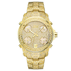 JBW Jet Setter Mens 3 CT. T.W. Diamond Gold-Tone Stainless Steel Watch JB-6213-A