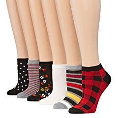 Mixit 6-pc. Low Cut Socks - Womens