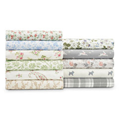 Laura Ashley Scottie Flannel Sheet Set